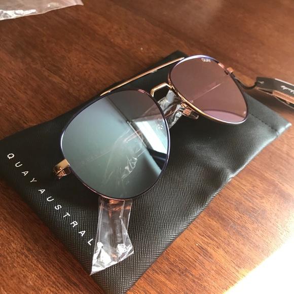 QUAY || Single Blue/Violet sunglasses
